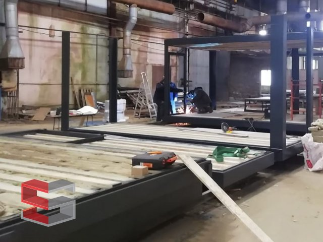 Frame preparation, floor and ceiling assembly